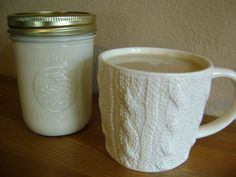 coffee and homemade creamer - Tried it and it is delicious. 1c heavy cream/ 1c milk/ 1tbl vanilla/ 1/4c brown sugar