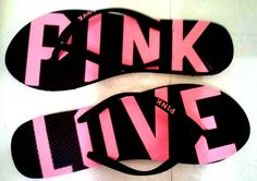 my PINK flip flops for summer <3