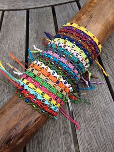 Handmade Waxed Cotton Friendship Bracelet | anklet | wristband, with Coloured Glass Seed Beads by PurpleowlProducts on Etsy