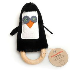 Unique, Stylish toys with a dash of Vintage Flair & Funky Edge!  DINGaRINGs are a 3-in-1 RATTLE, SOFT TOY & TEETHING RING all rolled into one cheeky Australian character.  Emma Owl is a truck driver who loves Country music & Surfing, but hates VPL & Speed cameras. Keith Koala works as a DJ, loves schmoozing & silk PJs, but is sick of trying to get the glitter out of his fur in the morning!  DINGaRINGs are safe, non-toxic, and highly interactive.