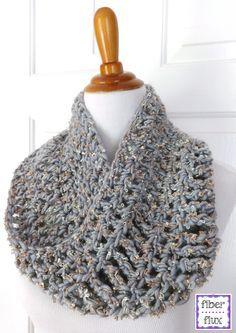 Fiber Flux  Free Crochet Pattern...Platinum Cowl ~k8~ Echarpe Crochet 311c428755e