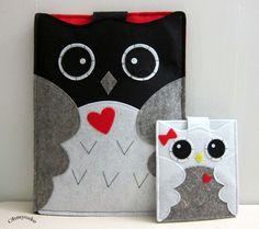 iPad case - iPad and purse - iPad bag - iPad covers - iPad Sleeve - Handmade felt iPad Sleeve