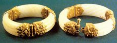 Gold-inlaid jade bracelet from the Tang Dynasty (618-907)