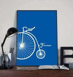 poster bike france - 30x40 cm