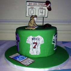 Sports themed groom's cake.  May 3, 2014 at the People's Light & Theater in Malvern, PA.  Congrats to Lauren & Chad!