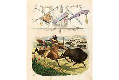 Buffalo Hunt, 1853 on OneKingsLane.com