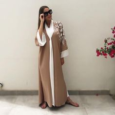 Contemporary Robes, Hijabs, Abayas & Modest Fashion for all occassions – Qabeela Silk Satin Dress, Satin Dresses, Long Dresses, White Chiffon, White Silk, Abaya Fashion, Modest Fashion, White Tunic Dress, Long Bomber Jacket