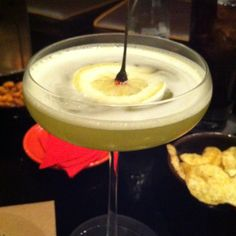 Beautiful drink at Dinner by Heston Blumenthal at Mandarin-Oriental in London, UK