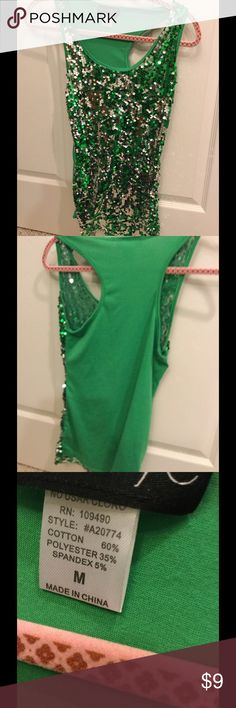 Sequined Tank 💃 Very sparkly sequined tank from Body Central. Sized M. Body Central Tops Tank Tops