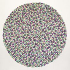 Our new rug design, purple, blue & grey colours:  Felt ball rug: http://unaliving.com Kugletæppe: http://unaliving.dk Filzkugelteppich: http://unaliving.de  We have 14 different designs