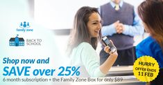 Save over 25% on a Family Zone plan and Box to protect every device everywhere. HURRY - OFFER ENDS 11 FEB