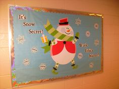 Career Counseling - Snowman/Work Ethics Bulletin Board