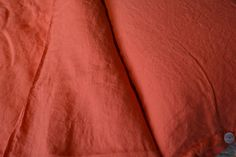 This luxurious coral linen bedding collection includes duvet covers and pillow-cases with button detailing. Buy online, inc. P&P within mainland UK. Where To Buy Bedding, Bed Company, Hotel Collection Bedding, Luxury Bedding Collections, House Beds, Bed Styling, High End Fashion, Bedroom Styles, Linen Bedding