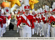 Photos from the 2011 Macy's Thanksgiving Day Parade on November 2011 in New York City. Student Tours, Macys Thanksgiving Parade, Band Uniforms, Band Photos, Bowling, York, American, Photography, Image