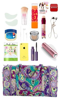 """""""Packing My Carry On For Oahu!"""" by southernprep52 ❤ liked on Polyvore featuring Vera Bradley, MaskerAide, Klorane, Maybelline, tarte, Urban Decay, Samsung and Japonesque"""