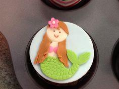 Fondant mermaid cupcake toppers