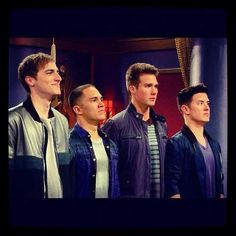 big time rush.... they're a boyband i went extremley crazy for.... theres still a tiny bit of rusher left in me...its sad that season 4 will be the last. :(