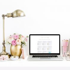 In the Shop: Blush Pink Styled Desktop featuring B is for Bonnie Design