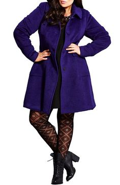 City Chic 'Lady Like' Coat (Plus Size) available at #Nordstrom