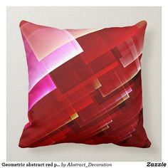 Shop Geometric abstract red pattern throw pillow created by Abstract_Decoration. Fractal Design, Red Pattern, Décor Ideas, Accent Pillows, Decorative Throw Pillows, Orange, Abstract, Interior, Home Decor