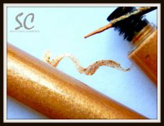 24KGold Liquid Eyeliner Gold Shimmer Eye Makeup    Add depth to a totally neutral eye color look, with this liquid eyeliner. Deep Rich Gold color shimmers to a dazzling fascinating finish to beautiful brown tones, add it to a plum mixture of colors for a new plum smokey eye look that is drop dead gorgeous.     Ever wish you could just bath in liquid 24K Gold? Now you can at least outline and accent your eyes with this show stopping stunning eyeliner.     My liquid eyeliner works best when…