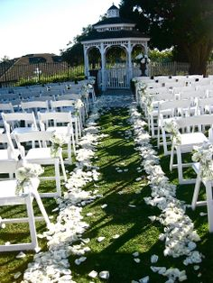 I love the flowers on the chairs and for the aisle