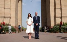 Her Bright White Dress:  Kate wore an Emilia Wickstead wool dress for a day of outings with William.