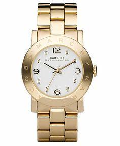 Marc by Marc Jacobs Watch, Women's Gold-Tone Stainless Steel Bracelet MBM3056