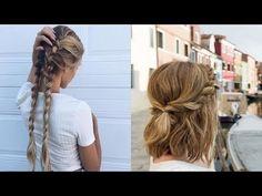 Evde Kolay Yapılabilecek Saç Modelleri - YouTube