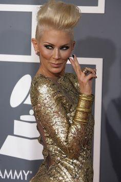 Celebrity Hair Affair: Jenna Jameson Goes Green #shorthair