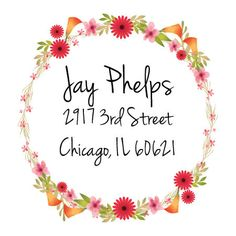 Return address Labels with flowers,custom return address labels, flowers address labels, address stickers, custom address stickers\ Custom Return Address Labels, Custom Labels, Address Stickers, Custom Stickers, Envelopes, Happy Birthday, Prints, Fans, Relax