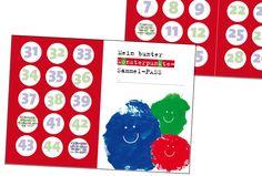 *Mein Monsterpunkte-Sammel-Pass* Belohnungs-Pass von Pastelito auf DaWanda.com