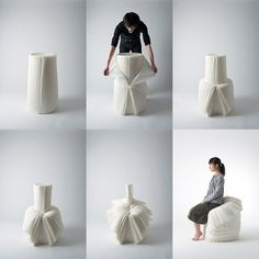27 - Zoom sur... Oki Sato | MyHomeDesign Cabbage chair by Nendo