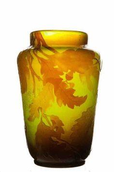 Galle vase firepolished