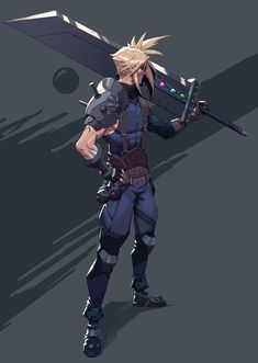 The Cult of the Wyrm — spassundspiele: Cloud Strife by Johan Wahlback Final Fantasy Cloud, Final Fantasy Characters, Final Fantasy Artwork, Final Fantasy Vii Remake, Fantasy Series, Anime Characters, Cloud And Tifa, Cloud Strife, Final Fantasy Collection