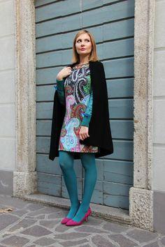 Abito stampa batik outfit 1