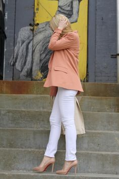 Zara Trench, H&M Blazer, Rich & Skinny Jeans, Christian Louboutin Shoes, JCrew Belt, Necklaces, Forever21 & HRH Collection.