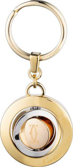 Three rings decor key ring