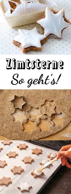 Zimtsterne recipe - so succeed the classic- Zimtsterne-Rezept – so gelingt der Klassiker With this recipe and the tips, cinnamon stars are easy to make! Baking Recipes, Cookie Recipes, Dessert Recipes, Baking Hacks, Baking Desserts, Baking Tools, Classic Desserts, Fall Desserts, Star Food