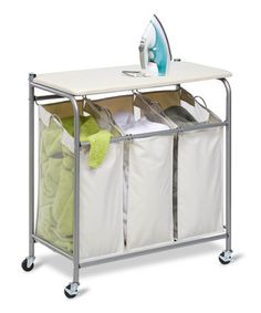 This Natural Ironing & Sorter Laundry Center is perfect! #zulilyfinds