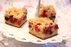 Crumb cake aux fruits rouges (framboises et myrtilles) - Pour ceux qui aiment…
