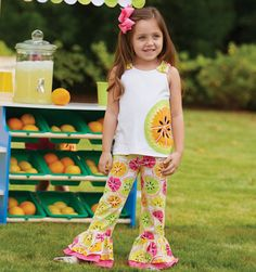 Bold colors for spring -Mud Pie Tutti Fruiti Pant Set
