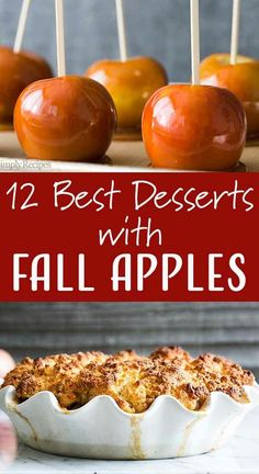 12 Apple Desserts to Enjoy this Fall! Apples aren't just for pie. They're also for crisps and crostatas. They are for grating and adding to a bundt cake, too! We've got 12 of our favorite ways to enjoy apples this fall. Healthy Dessert Recipes, Fruit Recipes, Apple Recipes, Fall Recipes, Holiday Recipes, Delicious Desserts, Cooking Recipes, Yummy Food, Apple Desserts