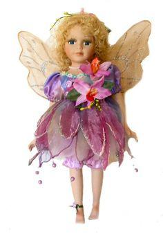 Fairy Porcelain Dolls-Fairy Dolls-Angel Porcelain Dolls-FAIRY Porcelain Doll By Cathay Collection-Laken