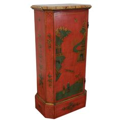 Vintage Hand-Painted Chinoiserie Cabinet on Chairish.com