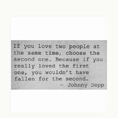 well said, Johnny ♡
