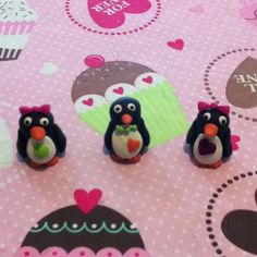 Polymer clay penguins.