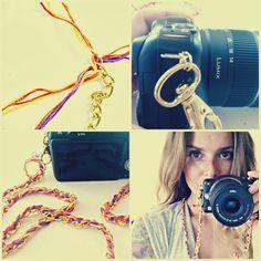 DIY jewlery camera strap