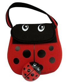 Microban Ladybug Lunch Box With Free Matching Reusable Ice Pack
