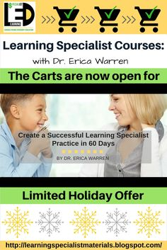Learning Specialist and Teacher Materials - Good Sensory Learning: Learning Specialist Courses: Creating a Successful Learning Specialist Practice in 60 Days